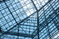 Structure roof iron and glass on Royalty Free Stock Photos