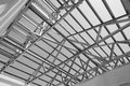 Structure of steel roof. Royalty Free Stock Photo