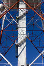Structure of a telecommunication antenna close up on the Royalty Free Stock Images