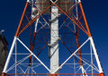 Structure of a telecommunication antenna close up on the Stock Images