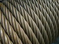 Structure: wire rope / steel cable Stock Images