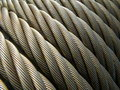 Structure: wire rope / steel cable Royalty Free Stock Photos