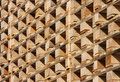 Structure  of wooden pallets in stock Royalty Free Stock Image