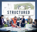 Structured Building Construction Design Plan Concept Royalty Free Stock Photo