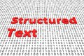 Structured text Royalty Free Stock Photo