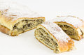 Strudel with poppy Stock Images