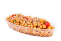 Struffoli traditional italian dessert tray with from naples made with fried sweet pastry and honey syrup decorated with candy Royalty Free Stock Image