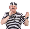 Struggle with handcuffs Stock Images