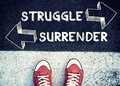 Struggle and surrender Royalty Free Stock Photo