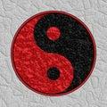 Strukturiertes Yin Yang Symbol Lizenzfreie Stockfotos
