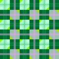 Struttura piacevole con le figure geometriche verdi Fotografia Stock
