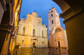 Sts johns' church in vilnius after rain the evening Royalty Free Stock Image