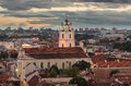 Sts johns church in vilnius lithuania the autumn sunset Stock Image