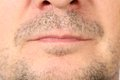 Stubble on face. Royalty Free Stock Photo