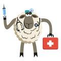 Stubborn Lamb Doctor Vector