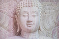 The stucco of buddha image white Royalty Free Stock Photos