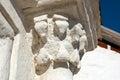 Stucco columns of white stone Kremlin Verkhoturye Royalty Free Stock Photo