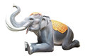 Stucco elephant model sculpture in thailand temple Royalty Free Stock Photos