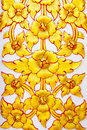 Stucco Thailand golden flower Royalty Free Stock Photo