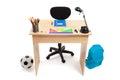 Studencki biurko akcyjna fotografia Fotografia Royalty Free