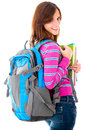 Student with a bag Stock Images