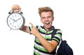 Student being late with his deadlines Royalty Free Stock Photos