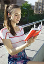 The student with book Stock Photography