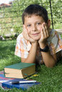 Student with the books Stock Photography