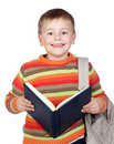 Student child with books Royalty Free Stock Photos