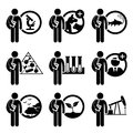 Student degree in agriculture science a set of human pictogram representing course this include studies research veterinary Royalty Free Stock Photography