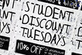 Student Discount Poster #1 Royalty Free Stock Photography