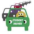 Student driver Royalty Free Stock Images