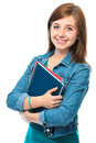 Student girl with books Royalty Free Stock Image