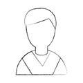 Student graduated avatar character