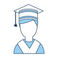 Student graduated with hat avatar character
