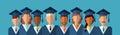 Student Group Graduation Gown Cap