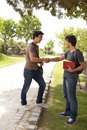 Student handshake Royalty Free Stock Photography