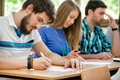 Student have test in classroom Royalty Free Stock Photos