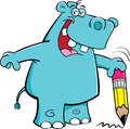 Student Hippo Stock Photo