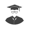 Student icon isolated