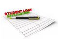Student loan application concept on isolated background Royalty Free Stock Photos