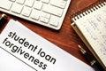 Student loan forgiveness. Royalty Free Stock Photo