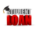 Student loan sign illustration design over a white background Royalty Free Stock Images