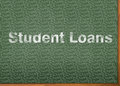 Student loans are dumb written on chalkboard Royalty Free Stock Image