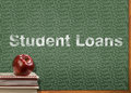 Student loans are dumb for your education and red apple Royalty Free Stock Photos