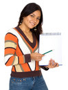 Student with a notebook Stock Photo