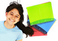 Student with notebooks Stock Photo