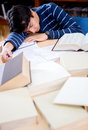 Student sleeping Stock Photo