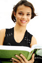 Student teenage girl with book Stock Photos