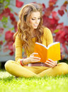 Student woman with book. University education. Royalty Free Stock Photos